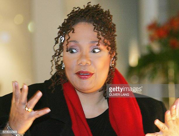 Picture taken 07 March 2005 in Berlin shows US human rights activist Yolanda King daughter of social activist Martin Luther King Jr AFP PHOTO...