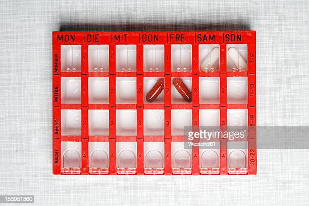 Germany, Pill box for weekly doses