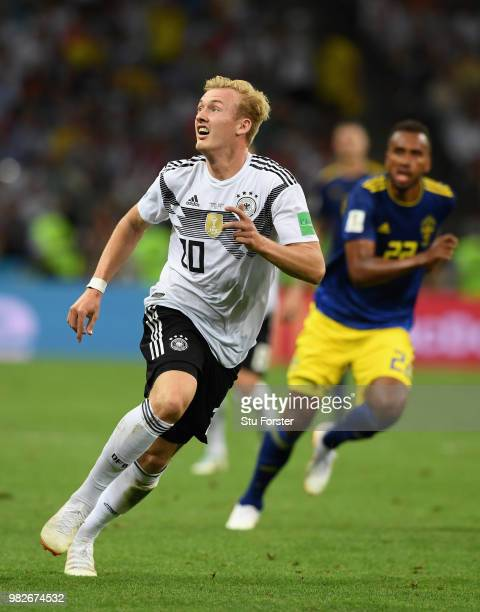 Germany player Julian Brandt in action during the 2018 FIFA World Cup Russia group F match between Germany and Sweden at Fisht Stadium on June 23...