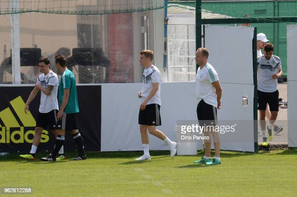 Germany players attend the Southern Tyrol Training Camp day four on May 26 2018 in Eppan Italy