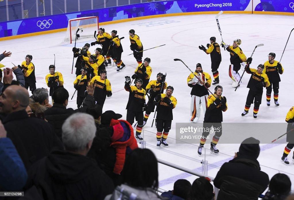 IHOCKEY-OLY-2018-PYEONGCHANG-SWE-GER : News Photo
