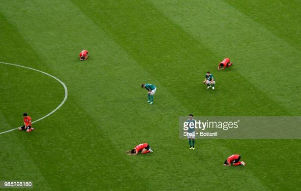 Germany players looks dejected following his sides defeat in the 2018 FIFA World Cup Russia group F match between Korea Republic and Germany at Kazan...