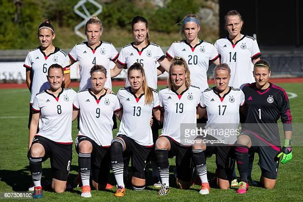 Germany players Rieke DieckmannMelissa Friedrich Jana Feldkamp Laura Freigang Lina Hausicke Jenny Gaugigl Dina Orschmann Isabella Hartig Franziska...