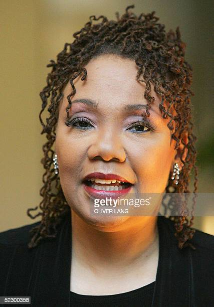 Portrait taken 07 March 2005 in Berlin shows US human rights activist Yolanda King daughter of social activist Martin Luther King Jr AFP PHOTO...