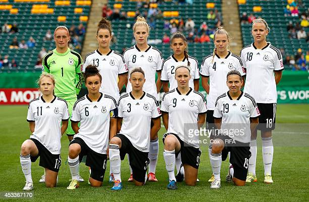 Germany poses for a photo prior to their match against China PR at Commonwealth Stadium on August 8 2014 in Edmonton Canada