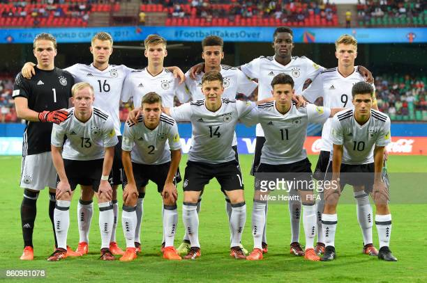 Germany poses for ateam photo ahead of the FIFA U17 World Cup India 2017 group C match between Guinea and Germany at Jawaharlal Nehru International...