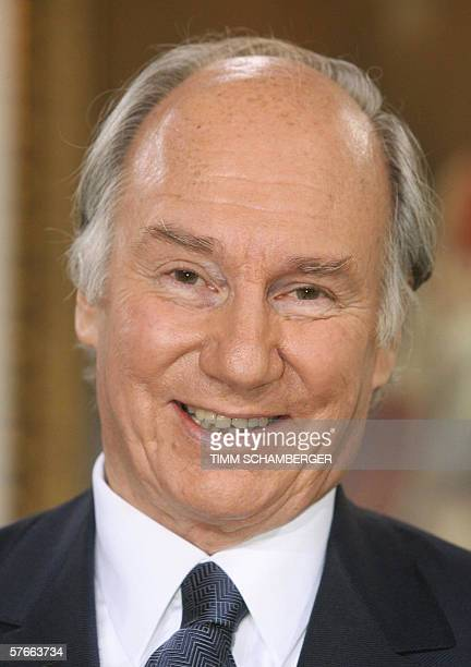 Prince Karim Aga Khan spiritual leader of the Ismaili Muslims is pictured during the awarding ceremony of the Tolerance Prize of the Protestant...