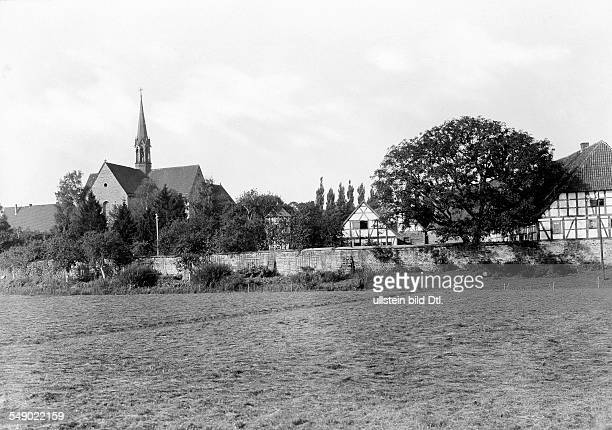 Germany Prussia province Hanover Loccum monastery cisterian foundation view of the complex about 1930