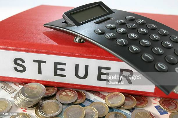 Germany red tax folder calculator and Euro currency