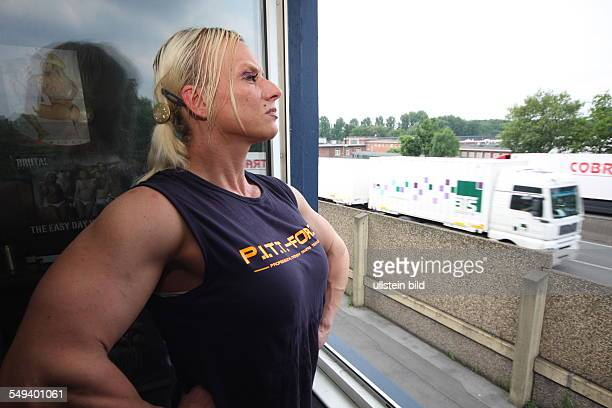 DEU Germany Reportage Living at the highway 40 The female bodybuilder Nicole Pfuetzenreuter