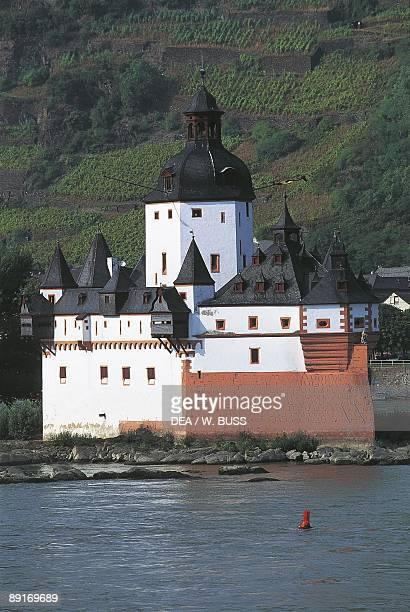 Germany Rhine valley RhinelandPalatinate Kaub Pfalz castle