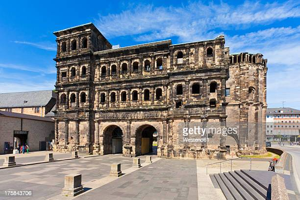 Germany, Rhineland Palatinate, Trier, View of Porta Nigra