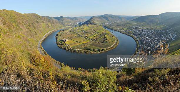 Germany, Rhineland Palatinate, View of Moselle Loop and Moselle River