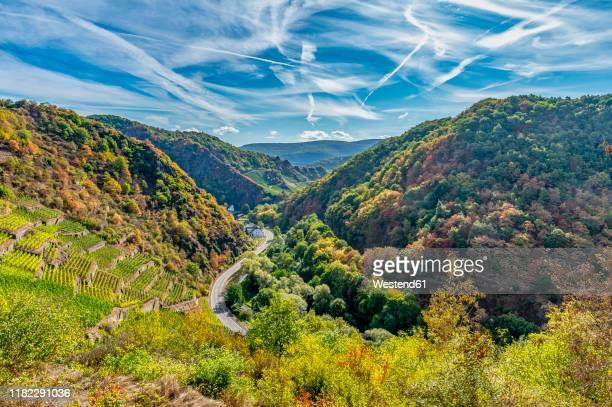 germany, rhineland-palatinate, altenahr, ahr valley, country road - ラインラント=プファルツ州 ストックフォトと画像