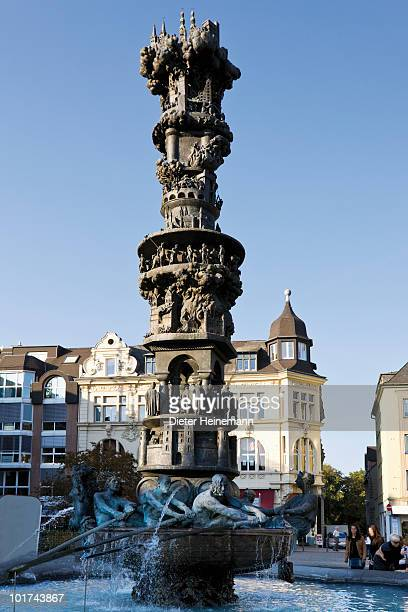 Germany, Rhineland-Palatinate, Koblenz, Historiensaeule at the Goerres Square
