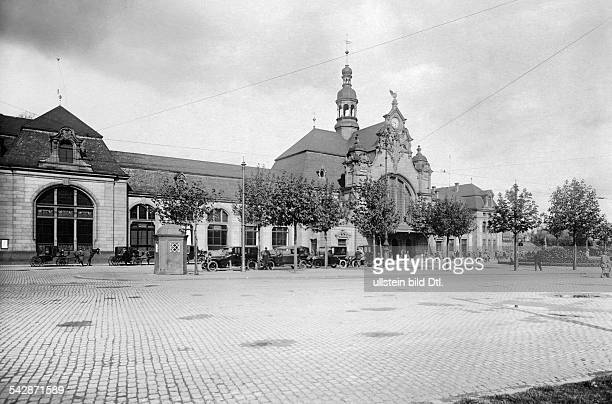 Germany, Rhineland-Palatinate, Koblenz, the main station, date unknown, around 1930, photo by Transocean