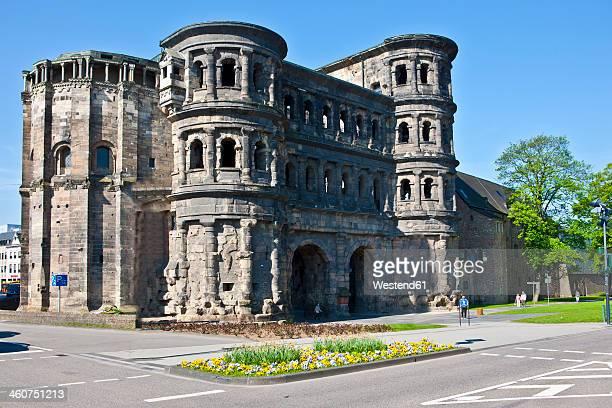 Germany, Rhineland-Palatinate, Trier, View of Porta Nigra