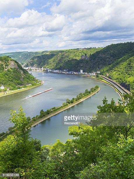 Germany, Rhineland-Palatinate, view from Loreley at Middle Rhine valley