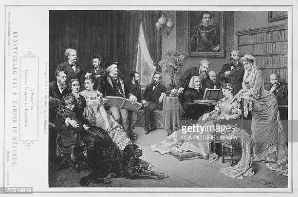 Germany Richard Wagner with his friends in Bayreuth vintage photograph