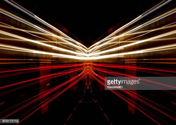 germany, road traffic at night - vehicle light stock pictures, royalty-free photos & images