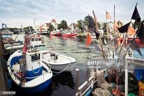 En Allemagne, Rostock, vieux Port de Warnemünde