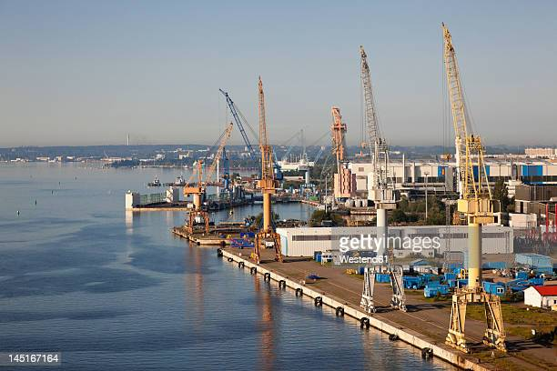 Germany, Rostock, View of harbour