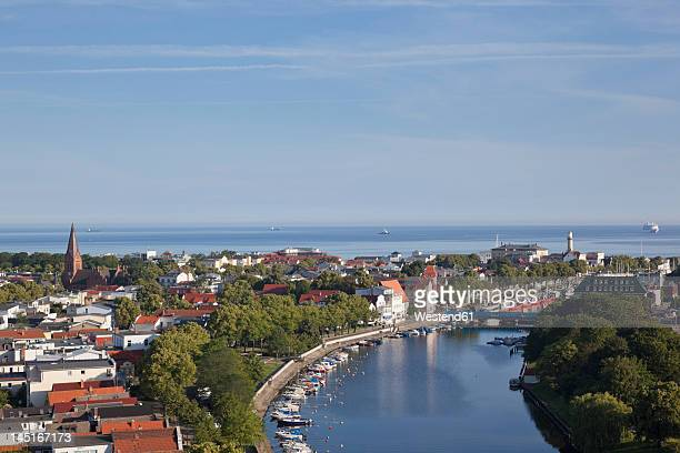 Germany, Rostock, View of harbour with Warnow River
