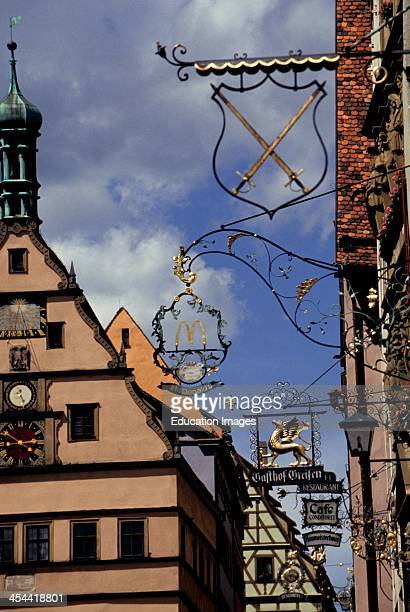 Germany Rothenburg Ob Der Tauber 13Th Century Walled Town