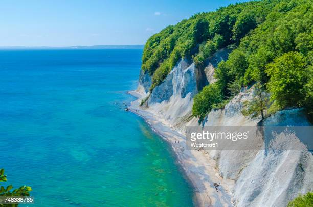 germany, ruegen, chalk cliff at jasmund national park - 炭酸石灰 ストックフォトと画像