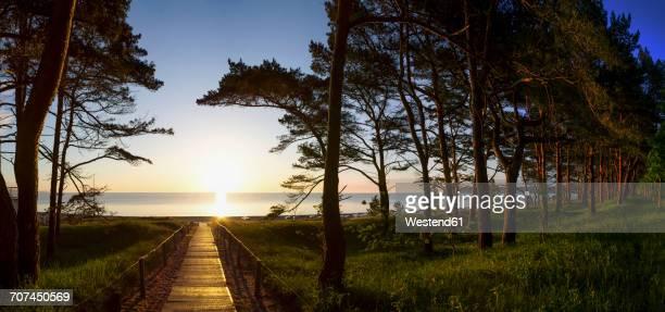 Germany, Ruegen Island, Binz, view to the sea at sunset