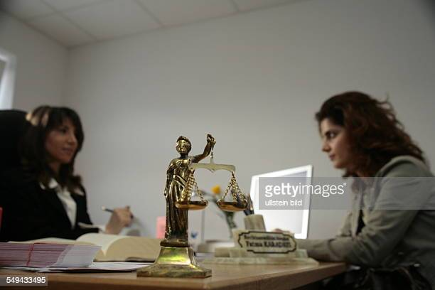 Ruhr Area Dortmund Portrait of Fatma Karadayi She is a turkish lawyer working in a GermanTurkish lawyer office