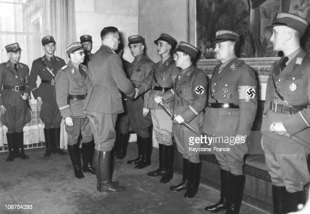 Germany SA Chief Viktor Lutze Greeting Some SA Members In January 1941