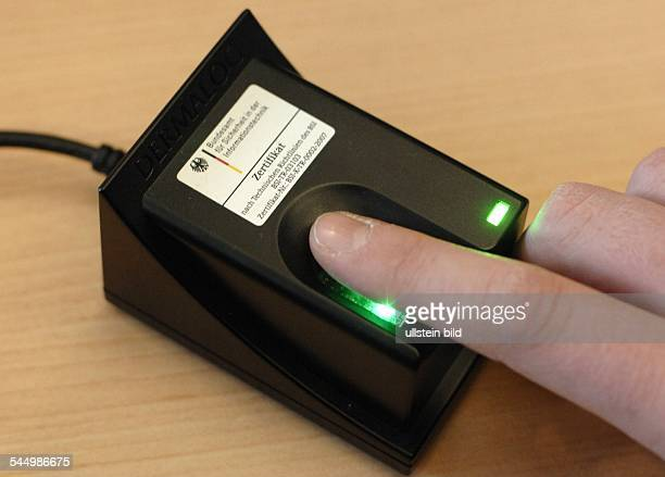 Germany Saarland Saarbrücken fingerprint scanner for electronic passport with fingerprints