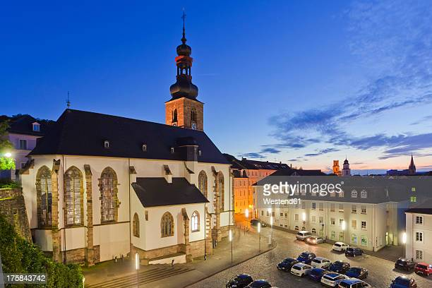Germany, Saarland, View of castle and church