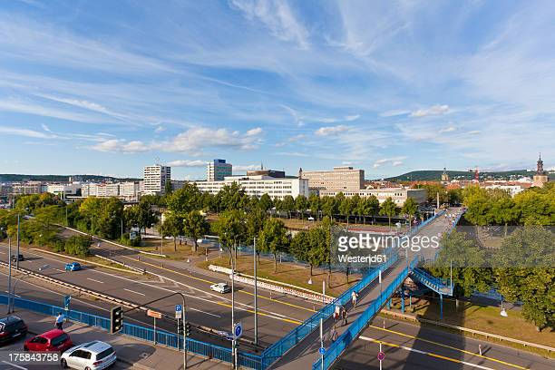 Germany, Saarland, View of express highway and city