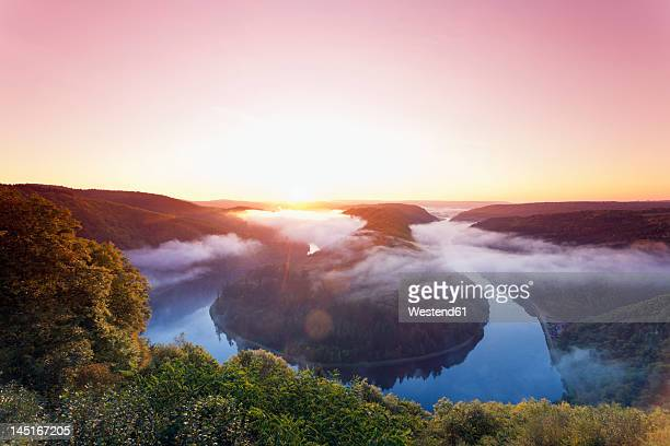 Germany, Saarland, View of mountain with River Saar