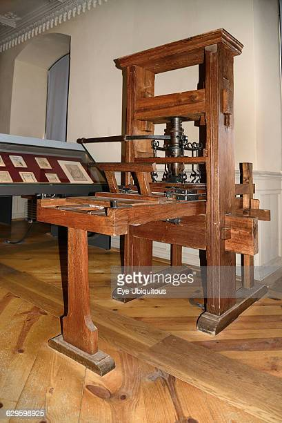 Germany, Saxony Anhalt, Lutherstadt Wittenberg, The Lutherhaus, Luther's residence, Printing press.
