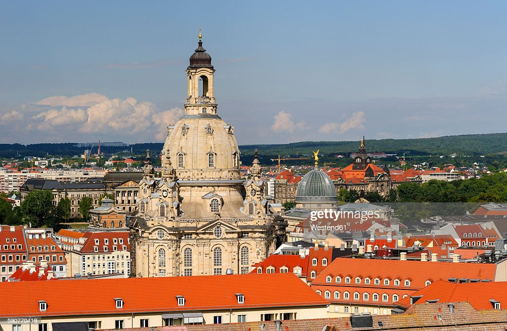 Germany, Saxony, Dresden, Old town, View to Church of Our Lady : Stock Photo