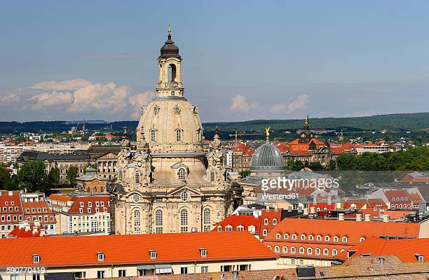 Germany, Saxony, Dresden, Old town, View to Church of Our Lady