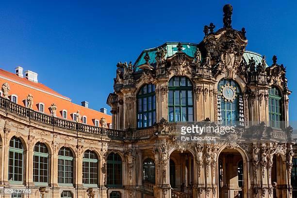 Germany Saxony Dresden Zwinger Palace Glockenspiel Pavilion
