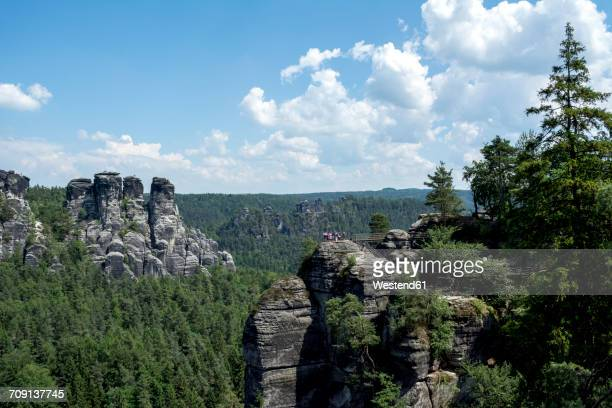 Germany, Saxony, Elbe Sandstone Mountains, Rock formations