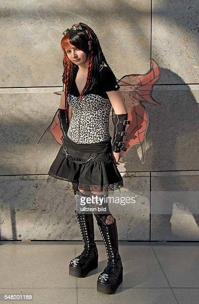 Germany Saxony Leipzig Cosplayer at the Leipzig book fair
