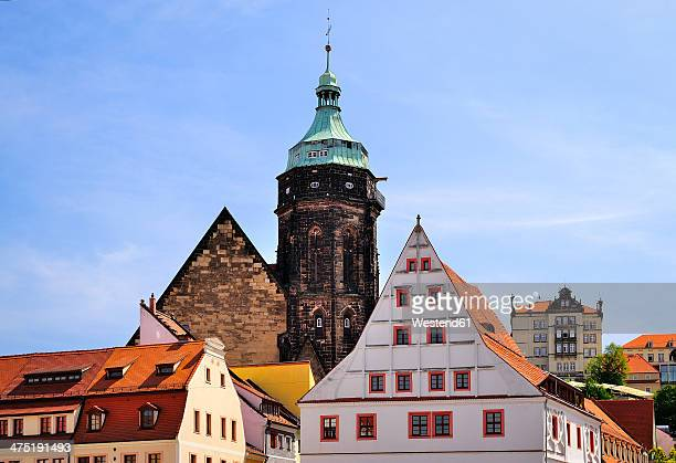Germany, Saxony, Pirna, St Mary's Church and Canalettohaus