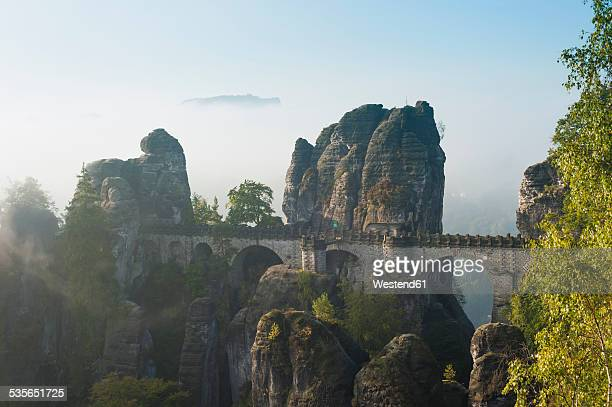 Germany, Saxony, Saxon Switzerland, National Park, Bastei Bridge