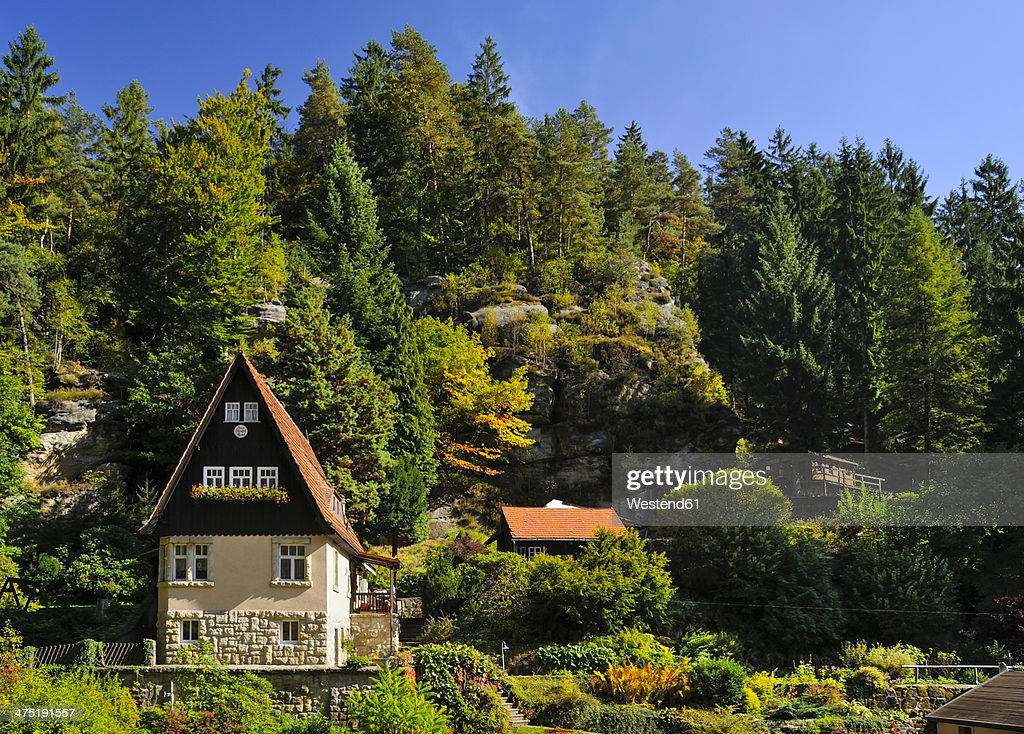 Germany, Saxony, Saxon Switzerland-East Ore Mountains, Raeumicht : Stock Photo