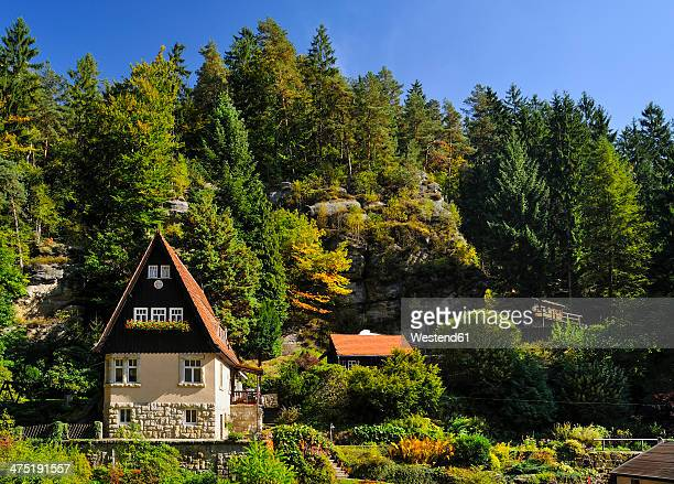 germany, saxony, saxon switzerland-east ore mountains, raeumicht - saxony stock pictures, royalty-free photos & images