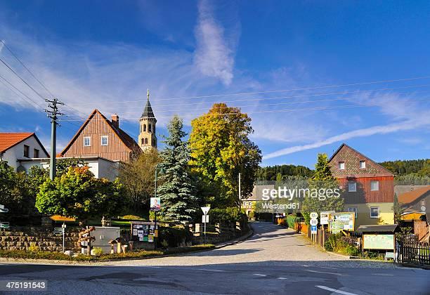 germany, saxony, sebnitz, district saupsdorf, townscape - saxony stock pictures, royalty-free photos & images