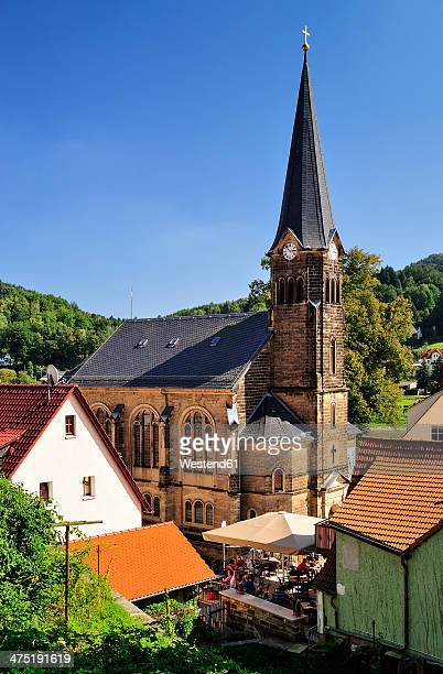 germany, saxony, stadt wehlen, parish church - stadt stock pictures, royalty-free photos & images