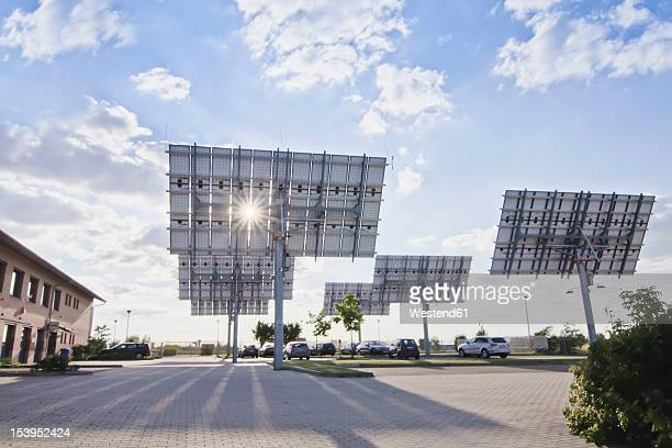 Germany, Saxony, View of solar panels