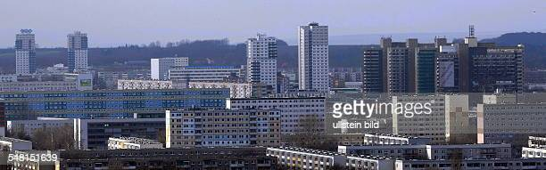 Germany SaxonyAnhalt Halle Neustadt view at the dwellings
